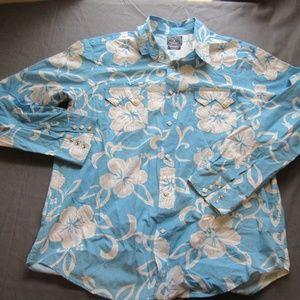 Lucky Brand Pearl Snap Floral Print Shirt XL
